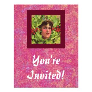 Stechpalmen-Mädcheneinladung Einladungen