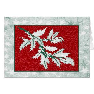 Stechpalmen-und Beere Weihnachtsanmerkungskarte Mitteilungskarte