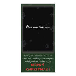 Stechpalmen-WeihnachtsFoto-Karte Karte