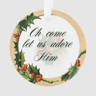 Stechpalmen-Weihnachtsverzierung Ornament