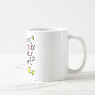 Stechpalmen-ziemlich sehr frohe Weihnachten Kaffeetasse