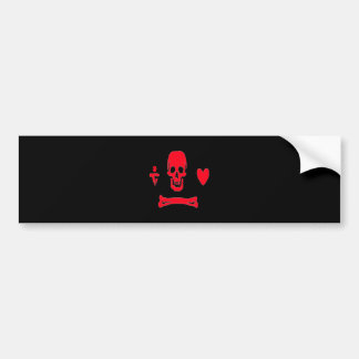 Stede Mütze-Rot Autoaufkleber