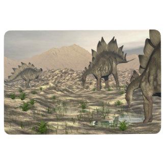 Stegosaurus nahe Wasser - 3D übertragen Bodenmatte