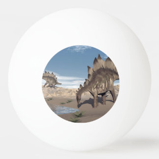 Stegosaurus nahe Wasser - 3D übertragen Tischtennis Ball