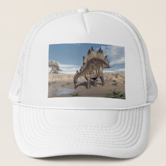 Stegosaurus nahe Wasser - 3D übertragen Truckerkappe