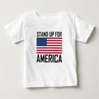 Stehen Sie oben für Amerika-Flaggen-Nationalhymne Baby T-shirt
