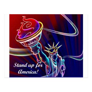 Stehen Sie oben für Amerika! Postkarte