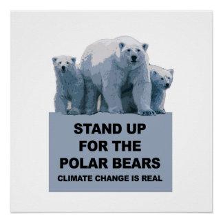 Stehen Sie oben für die Eisbären Poster