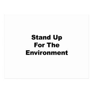 Stehen Sie oben für die Umwelt Postkarte