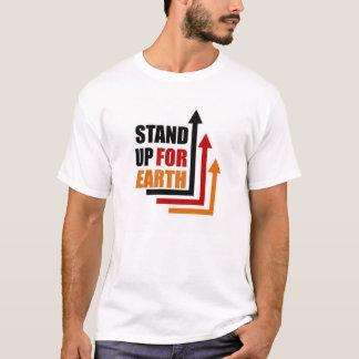 Stehen Sie oben für Erde T-Shirt