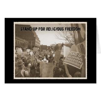 Stehen Sie oben für religiöse Freiheit Karte