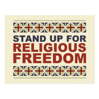 Stehen Sie oben für religiöse Freiheit Postkarte
