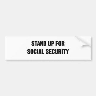 Stehen Sie oben für Sozialversicherung Autoaufkleber