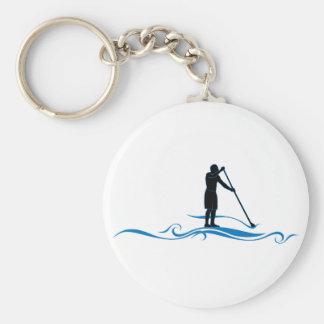Stehen Sie oben Paddel - Wellen Schlüsselanhänger