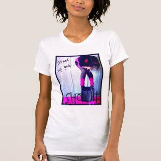 Stehen Sie oben und SCHREIEN Sie T-Shirt