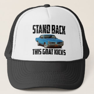 Stehen Sie zurück diese Ziegen-Tritte Pontiac 1966 Truckerkappe