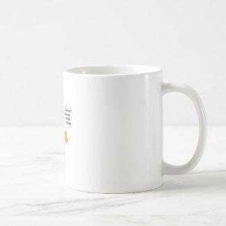 Stehen Sie zurück gehend, Wissenschafts-lustige Kaffeetasse