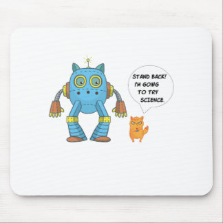 Stehen Sie zurück gehend, Wissenschafts-lustige Mousepad