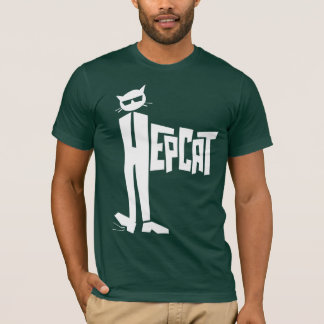 Stehend-Katze Logo T-Shirt