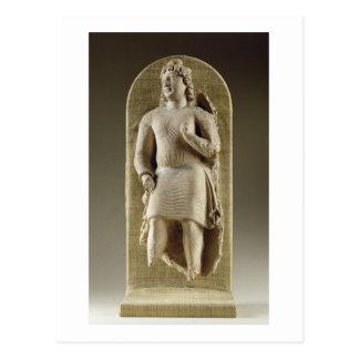 Stehende Jugend oder Maitreya, Gandhara (Stuck) Postkarte