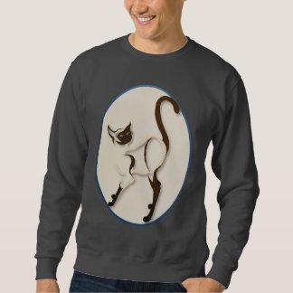 Stehende siamesische Kitty-Oval-Shirts Sweatshirt