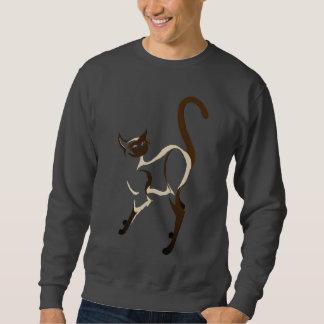 Stehende siamesische Kitty-Shirts Sweatshirt