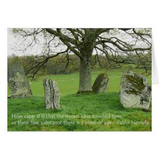 Stehende Steine - Pablo Neruda Grußkarten