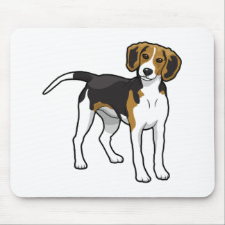 Stehender Beagle Mousepads