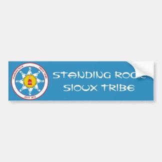 Stehender Felsen-Sioux-Stamm Autoaufkleber