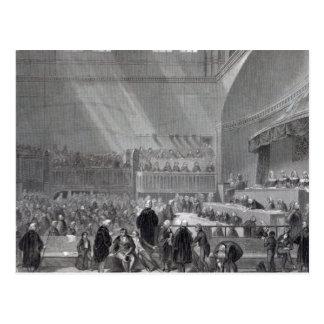 Stehender Versuch Daniels O'Connell im Jahre 1844 Postkarte