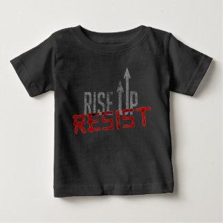 Steigen Sie oben, widerstehen Sie Baby-dunklem Baby T-shirt