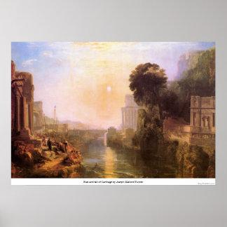 Steigen und Fall von Karthago durch Joseph Mallord Poster