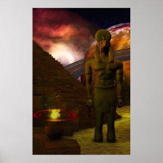 Steigende 3D Digital Kunst Ägyptens Poster