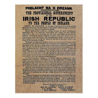 Steigende Proklamation Ostern der Republik Irland Postkarten