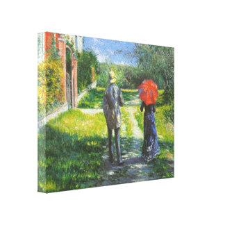Steigende Straße Gustave Caillebotte- Leinwand Drucke