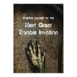 Steigende Zombie-Halloween-Party-Einladung 11,4 X 15,9 Cm Einladungskarte