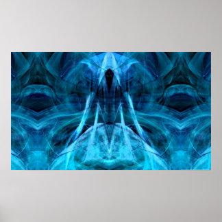 Steigender Geist-Aqua-Druck Posterdruck