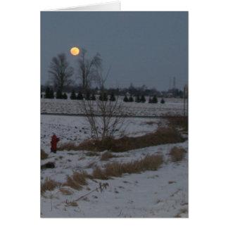 Steigender Mond Karte