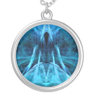 Steigendes Geist-Aqua-Sterlingplatten-Halskette Versilberte Kette
