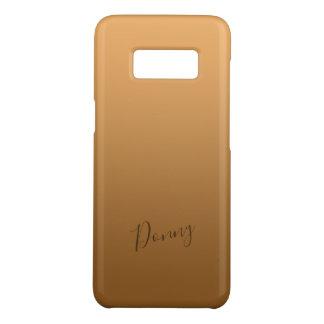 Steigungs-Gold mit individuellem Namen Case-Mate Samsung Galaxy S8 Hülle