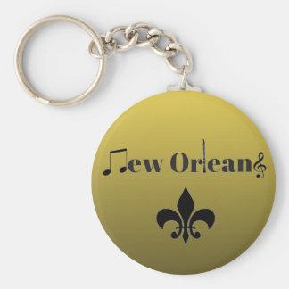 Steigungs-Goldnew- orleansjazz-Musik Keychain Schlüsselanhänger