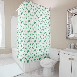 Steigungs-grünes irisches Kleeblatt-Muster Duschvorhang