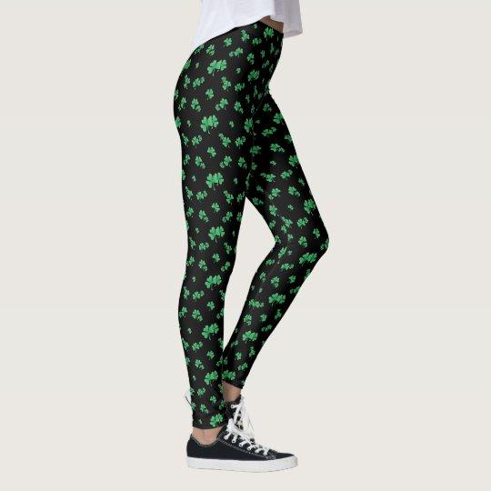 Steigungs-grünes irisches Kleeblatt-Muster Leggings
