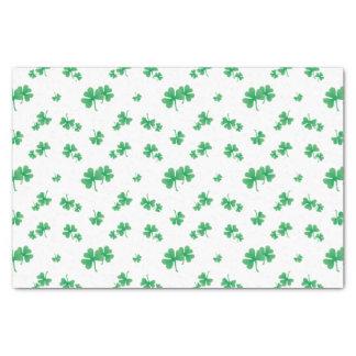 Steigungs-grünes irisches Kleeblatt-Muster Seidenpapier