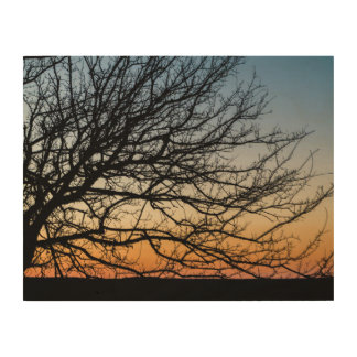 Steigungs-Himmel im Winter Holzdruck