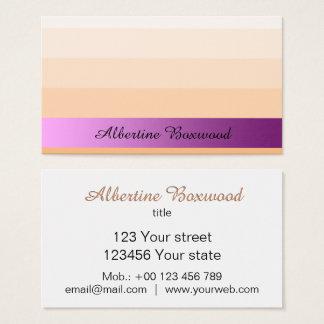 Steigungs-Pfirsich mit rosa Visitenkarte