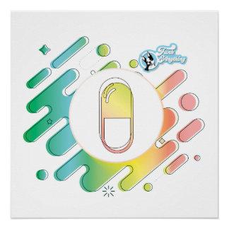 Steigungs-Pille Gloossy Plakat Poster