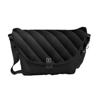Steigungs-Streifen - Schwarzes u. Grau Kurier Tasche