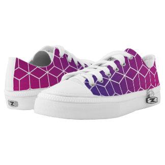 Steigungs-Würfel-Muster auf Schuhen Niedrig-geschnittene Sneaker