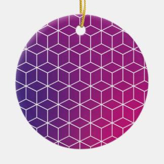 Steigungs-Würfel-Muster auf Verzierung Keramik Ornament